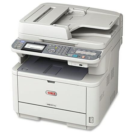 Oki 62438703 Oki MB471w MFP Wireless Multifunction Laser Printer, Copy/Fax/Print/