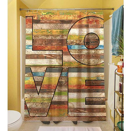 Thumbprintz Striped Love Shower Curtain, 71\