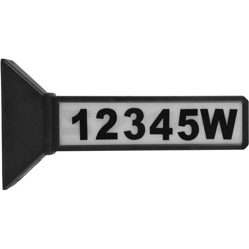 Moonrays 91919 Solar Powered LED Address Sign Light, Black Finish