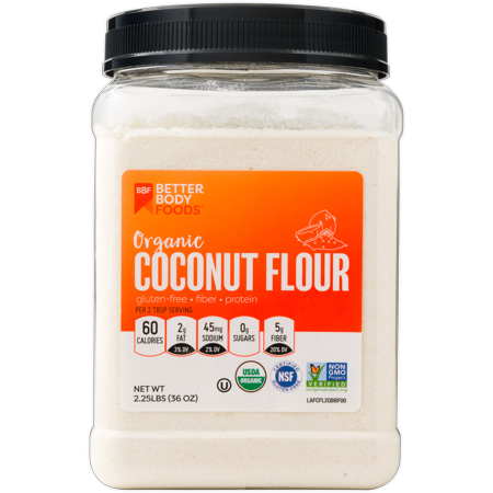 BetterBody Foods Organic Coconut Flour, Gluten-Free, 2.25