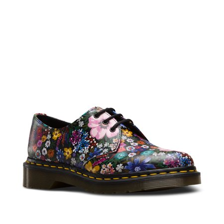 Dr. Martens 1461 Wl 3 Eye Shoe Black+Mallow Pink Uk 9