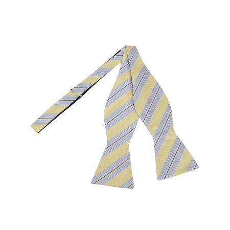 Men's Cream 100% Silk Woven Freestyle Bow Tie FBS3704