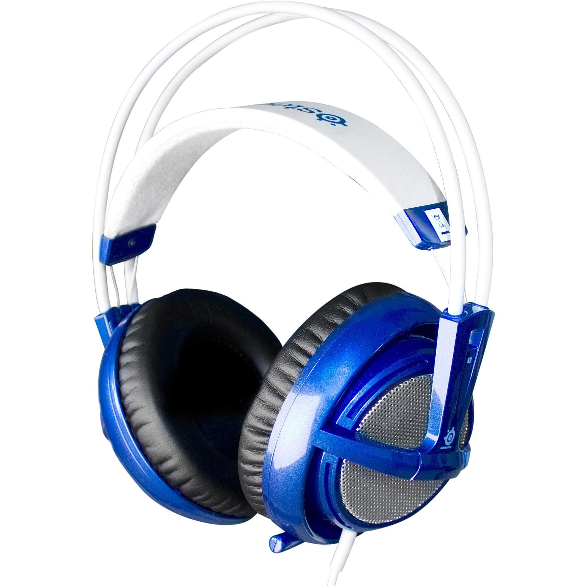 SteelSeries Siberia v2 Full-size Headset - Headset - full size - active noise canceling - blue