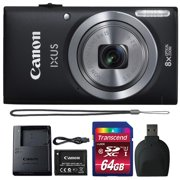 Canon Powershot Ixus 185 / ELPH 180 20MP Compact Digital Camera Black with 64GB Accessory Bundle - Best Reviews Guide