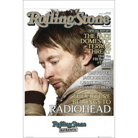 Radiohead Rolling Stone Magazine Cover Music Poster 24x36