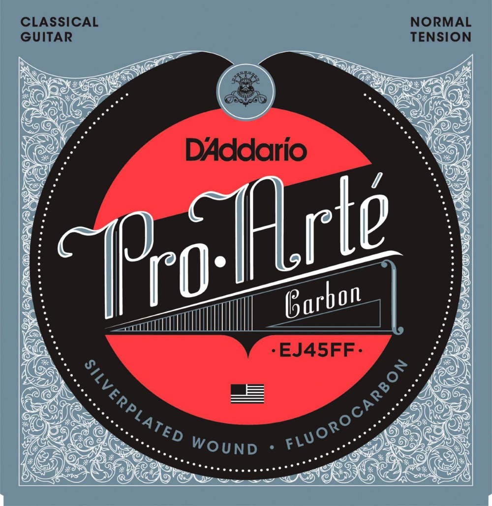 D'Addario Pro-Arte Carbon with Dynacore Basses Normal Tension Classical Guitar Strings by D'Addario