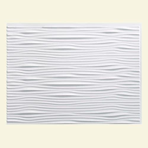 "ACP B65 Fasade - 24-1/4"" x 18-1/4"" Waves Wall Tile - Polished Tile Visual - Sold"