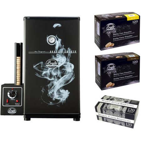 Bradley Original Smoker (Bradley Original Smoker and Your Choice Bisquettes 120)