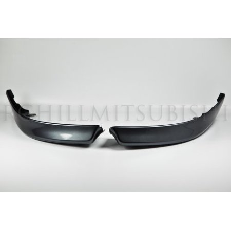 Factory Ground Effects (2008 2009 2010 2011 2012 OEM MITSUBISHI LANCER FRONT LIP SPOILER GRAPHITE GRAY MZ575782EX A39 GENUINE FACTORY FRONT GROUND EFFECTS BODY KIT )