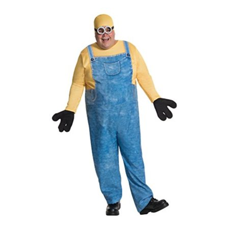 Minions Movie Minion Bob Men's Plus Size Adult Halloween Costume, XL (Bobbing Apples Halloween)