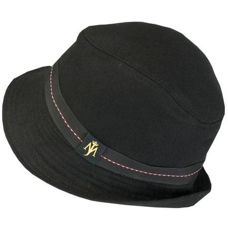 Michael Jackson Black Fedora (Michael Jackson - MJ Logo Wool)