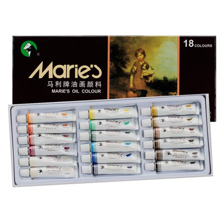 Marie's Extra-Fine Artists' Oil Paint Set, Highly Concentrated Colors - Oil Based Paint Set of 18, 12ml Tubes Vibrant Colors Paint Assortment