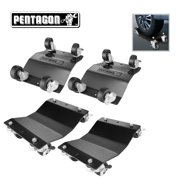 Pentagon Tool | Commercial Grade 4-Pack | Tire Dolly - Tire Skates | Black