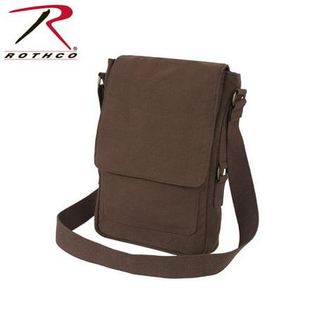 Rothco - (Price EA)Rothco 5795 Vintage Canvas Military Tech Bag-Brown -  Walmart.com 5d978235ae0