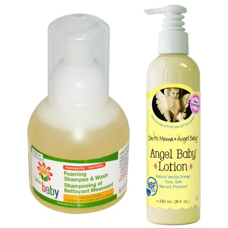 Lafes Baby Foaming Shampoo And Wash With Earth Mama Angel