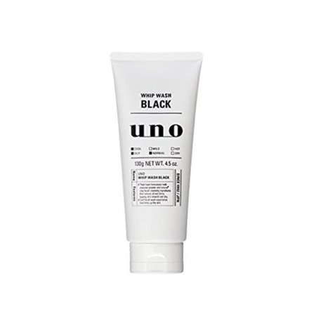 SHISEIDO WHIP WASH BLACK 130g(Face Wash), Japanese product By UNO