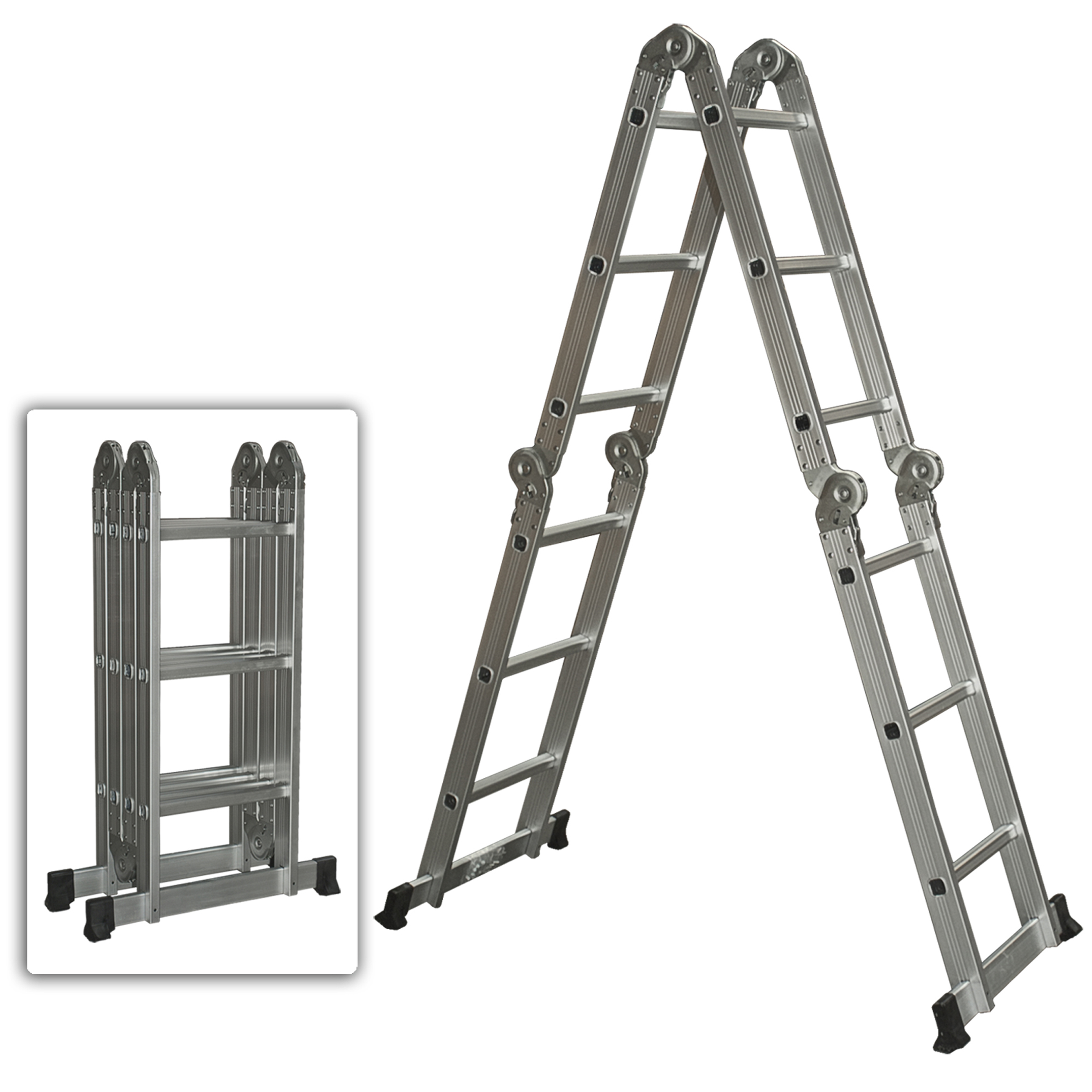 Multi Purpose Aluminum Ladder Folding Step Ladder Extendable Heavy Duty