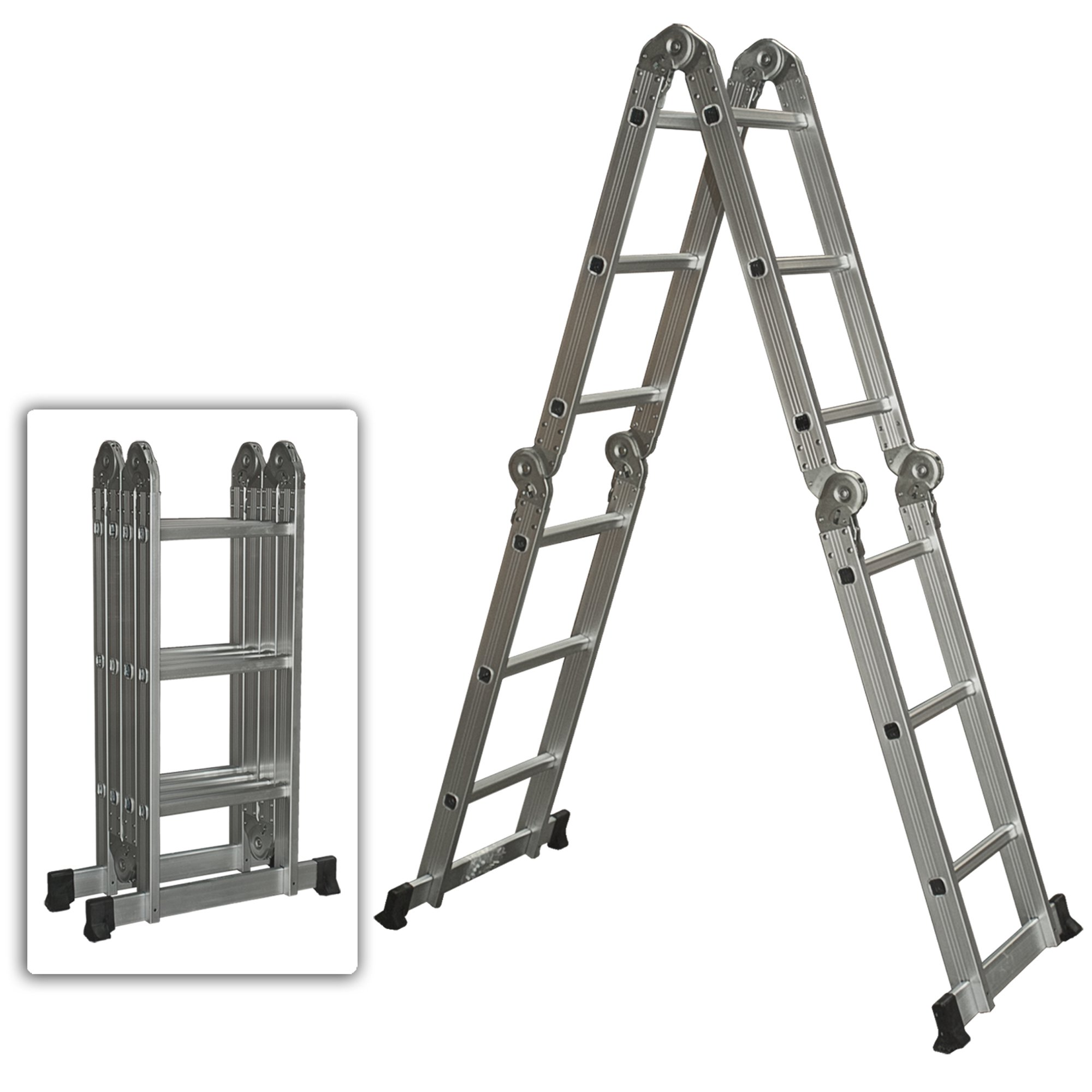 Best Choice Products Multi Purpose Aluminum Ladder Folding Step Ladder Extendable Heavy Duty Walmart Com Walmart Com
