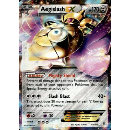 Pokemon X & Y Phantom Forces Single Card Rare Holo EX Aegislash-EX #65