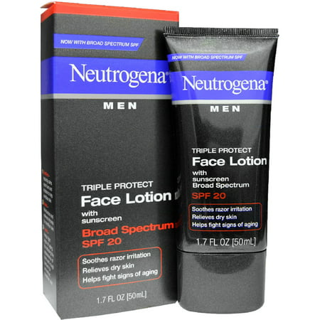 2 Pack - Neutrogena Men Triple Protect Face Lotion with Sunscreen SPF 20 1.70 oz