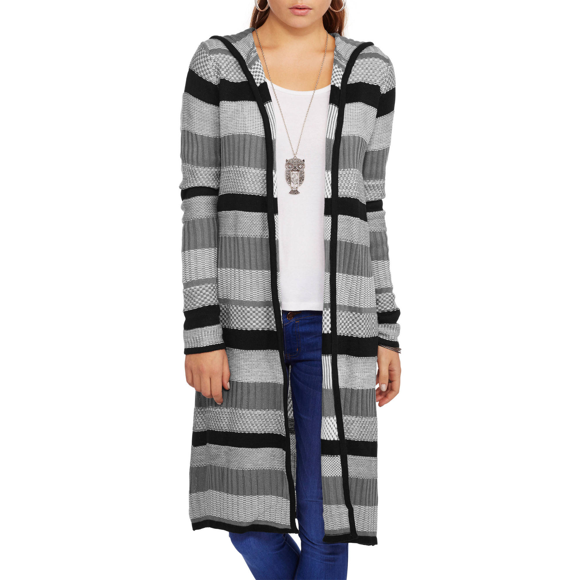 Faded Glory Women's Long Hooded Cardigan
