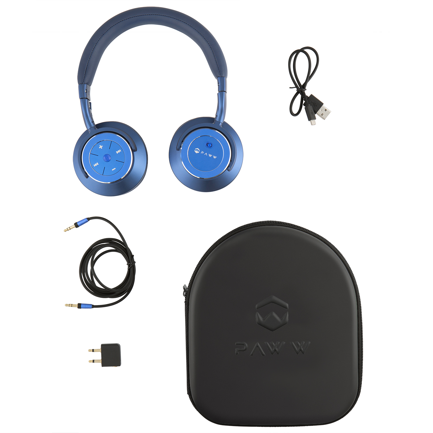 7a3355432da Paww WaveSound 3 Bluetooth 5.0 Over-Ear Travel Active Noise Cancelling  Headphones - aptX Low Latency - ShareMe Function - Digital Assistant -  Connect ...
