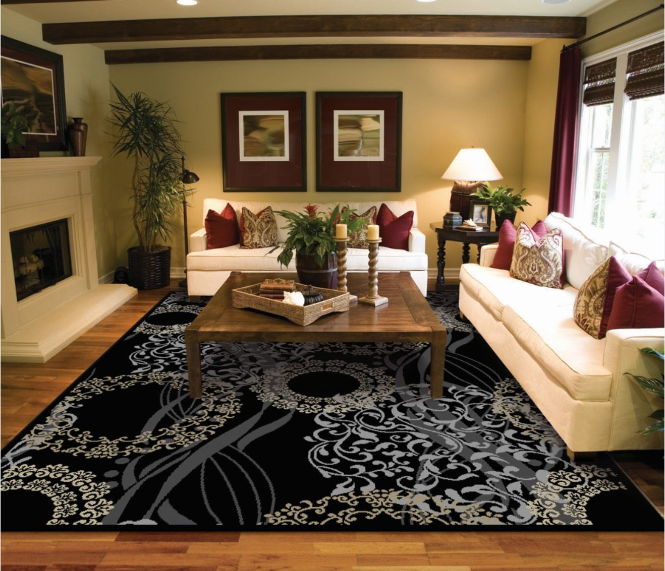 Contemporary Area Rugs 5x7 On Clearance 5 By 7 Rug For Living Room Ivory Modern 5x8 Com