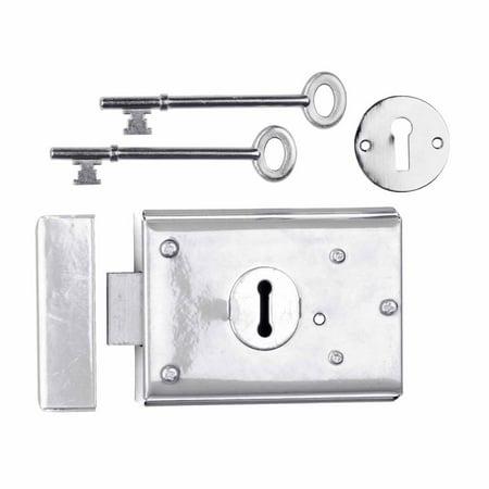 Rim Locks Victorian Chrome  3