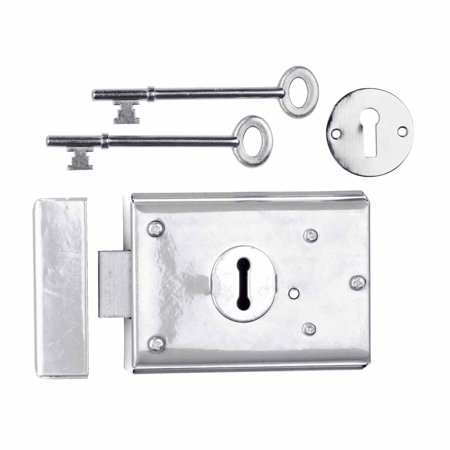 Rim Locks Victorian Chrome 3 H x 4 7 8 W