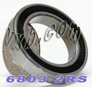 6803 RS Full Ceramic Bearing 17 x 26 x 5 mm Metric VXB