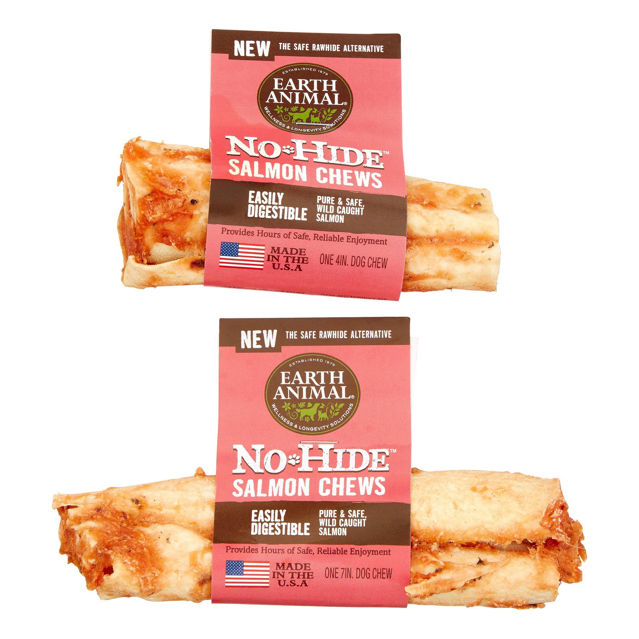 "Earth Animal No-Hide Salmon Chews 11/"" Case of 12"