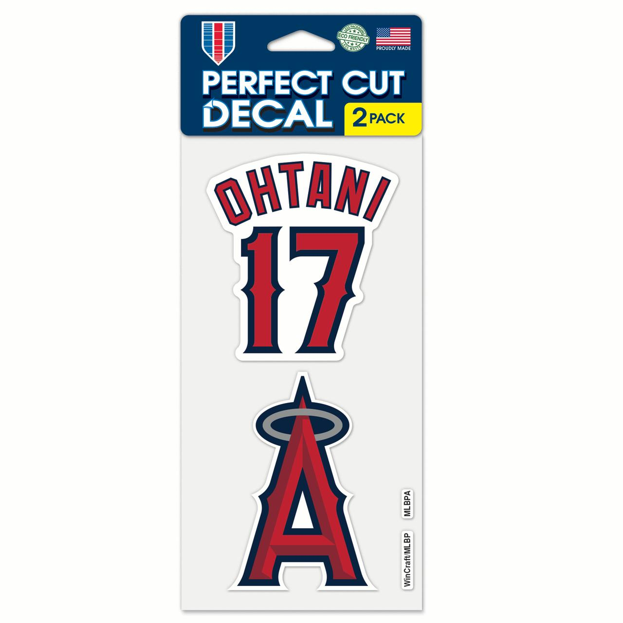 Shohei Ohtani Los Angeles Angels WinCraft 2-Pack Perfect Cut Player Decal Set - No Size