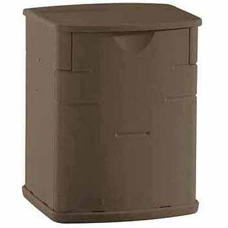 1sale rubbermaid mini deck box mocha outdoor storage for Outdoor storage units for sale