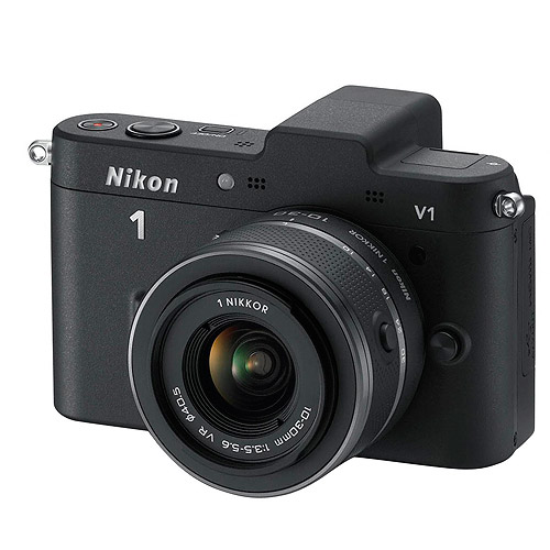 Nikon 1 Black V2 Digital SLR Camera with 14.2 Megapixels and 10mm-30mm Lens Included
