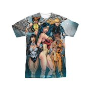 Jla - Gals Night Out (Front/Back Print) - Short Sleeve Shirt - Large
