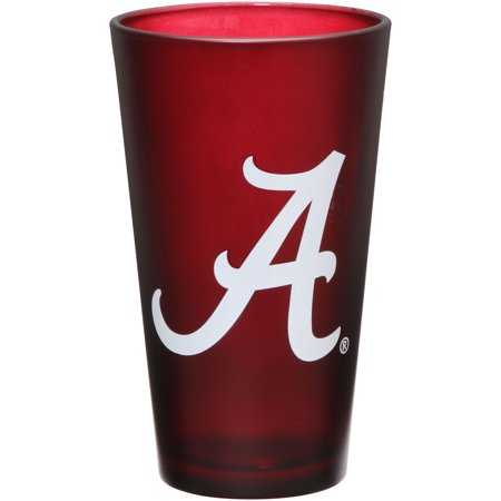 Alabama Crimson Tide 16 oz. Team Color Frosted Pint Glass - No Size