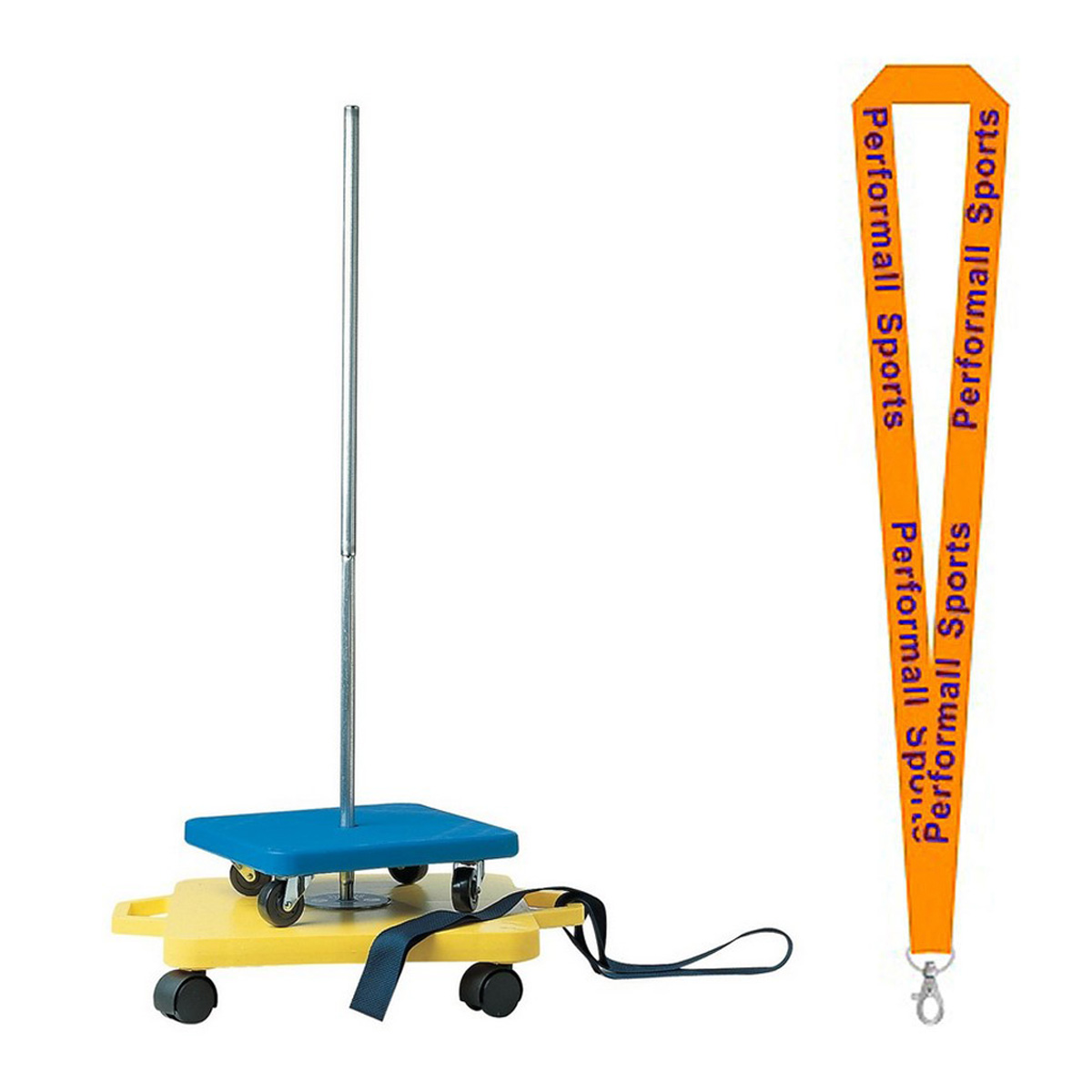 Champion Sports Bundle: Scooter Stacker Silver / Yellow with 1 Performall Lanyard SX-1P