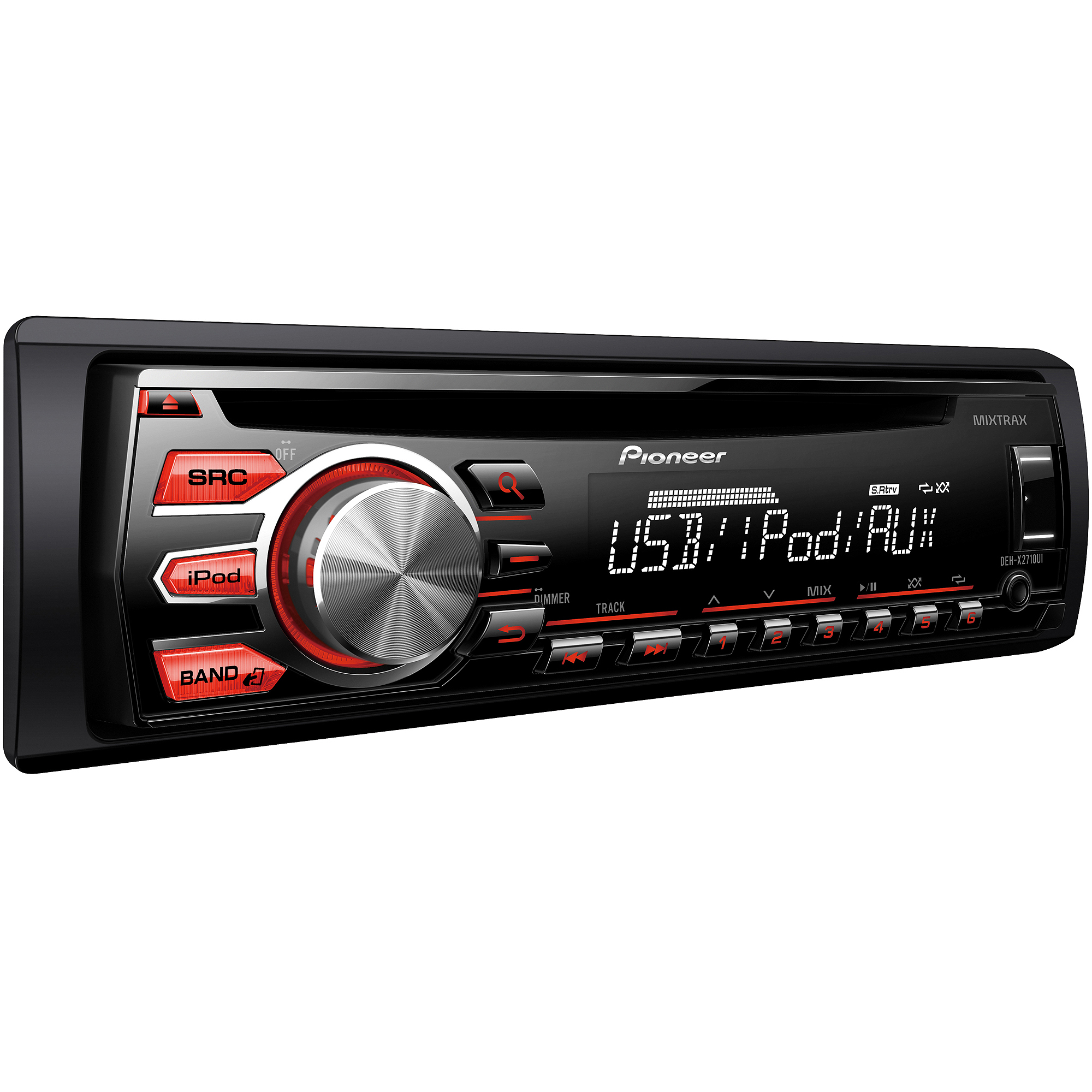 Pioneer DEH-X2710UI Single CD Receiver with 12-Character Display