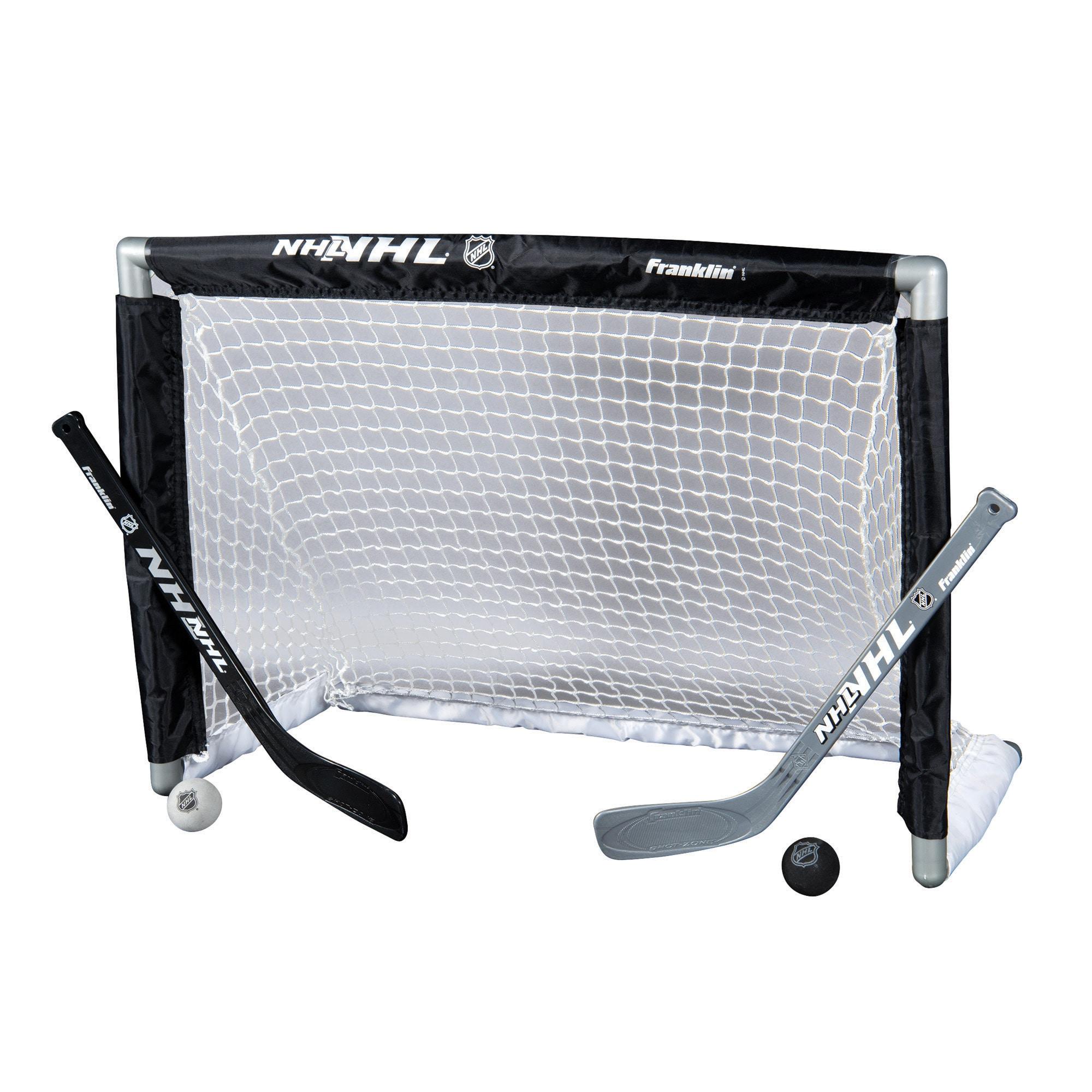 Franklin Sports NHL Mini Hockey Goal Set with 2 Sticks & 2 Soft-Foam Balls