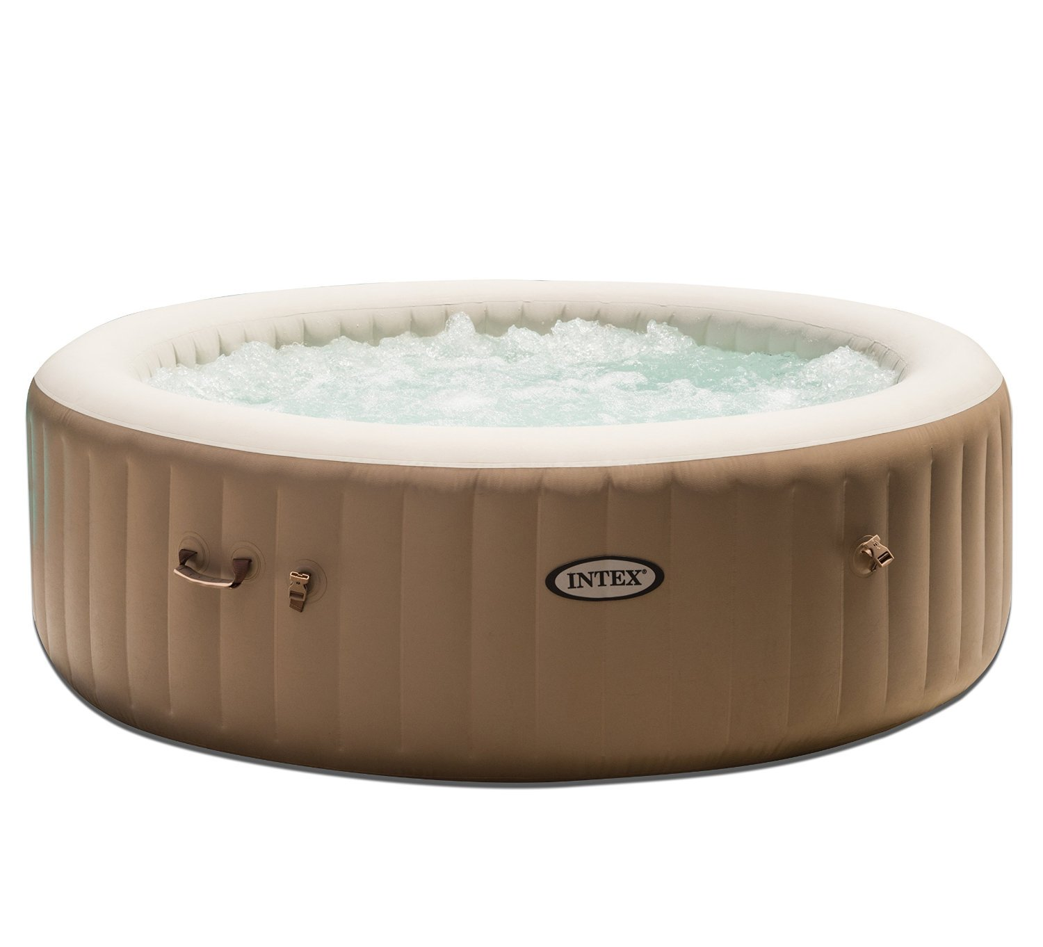 Intex Inflatable Pure Bubble Spa 6-Person Portable Heated Hot Tub & Cup Holder by Intex