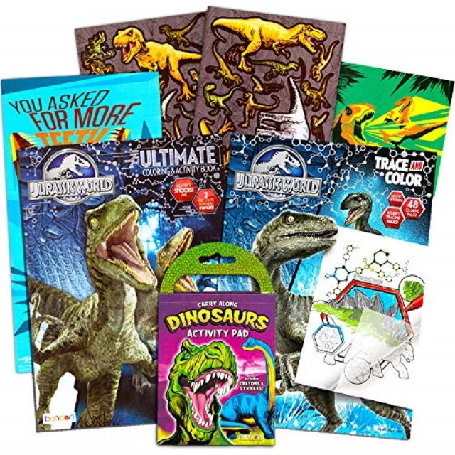 Jurassic World Coloring Book Set With Stickers And Posters 3 Books Walmart Com Walmart Com