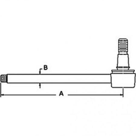 Power Steering Cylinder Rod, New, Massey Ferguson, 3443036M91, 3773716M91 -  AllStatesAgParts