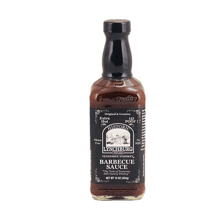 Lynchburg Tennessee Extra Hot BBQ Sauce Made With Jack Daniels - 151 (Best Barbecue Sauce Brand)