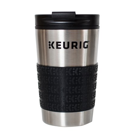 Keurig® 12oz Stainless Steel Insulated Coffee Travel Mug, Fits Under Any Keurig® K-Cup Pod Coffee Maker (including K-15/K-Mini), Silver (Stainless Travel Coffee Mug)