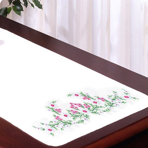 Tobin Meadow Flowers Stamped Dresser Scarf For Embroidery