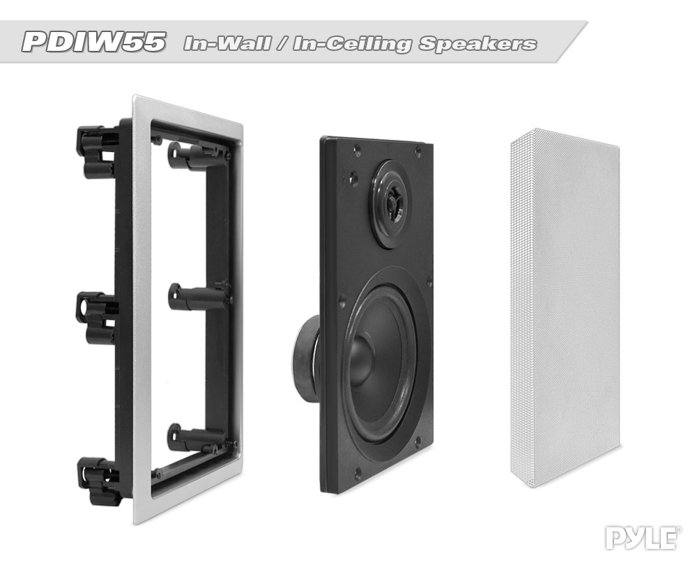 """Ceiling DVC Flush Mount Home Audio Speakers Pair of Pyle PDIWS10 10/"""" In Wall"""