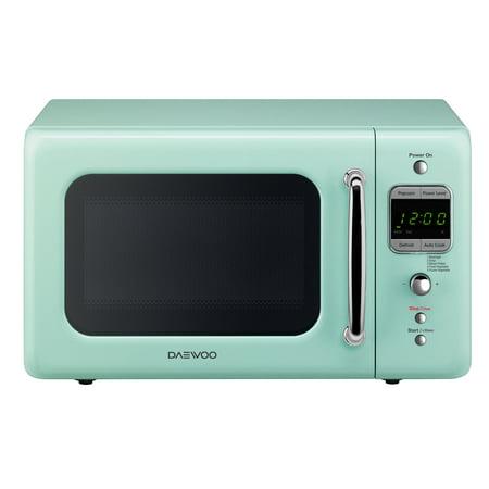 Daewoo Retro 0.7 Cu. Ft. Microwave Oven, Mint Green