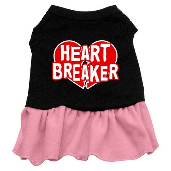 Heart Breaker Dresses Black with Pink XXL (18)