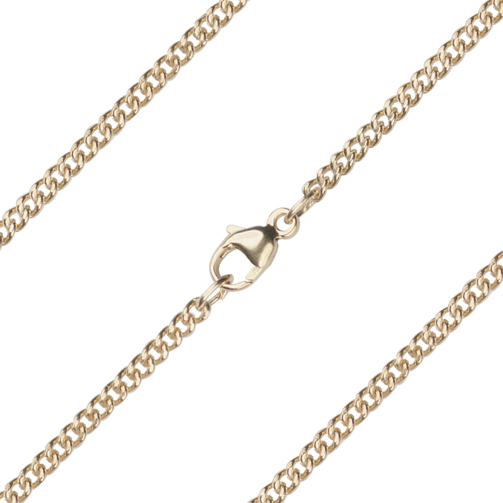 24 inch 14kt Gold Heavy Curb Chain