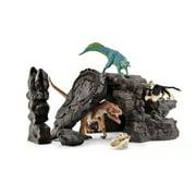 Schleich, Dinosaurs, Dinosaur Set with Cave Toy Figurine Playset